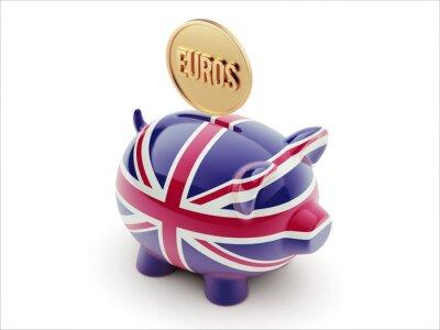 United Kingdom Euro Concept Piggy Concept
