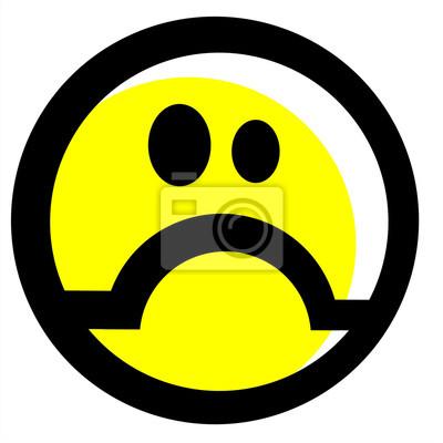 Upset Emoticonsmail Leinwandbilder Bilder Negativität Lugubrious