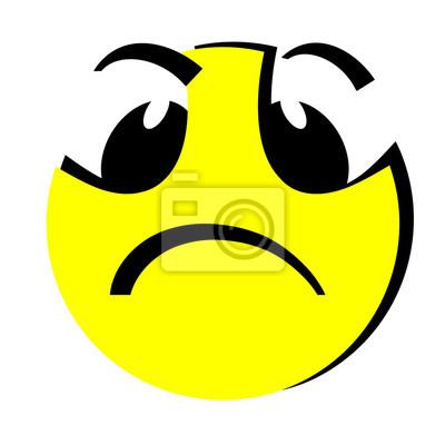 Upset Emoticon Smail Leinwandbilder Bilder Negativität