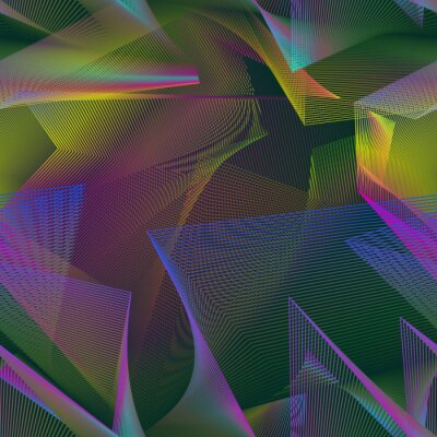 Bild Urban chaotic seamless pattern swatch of multicolor broken lines.