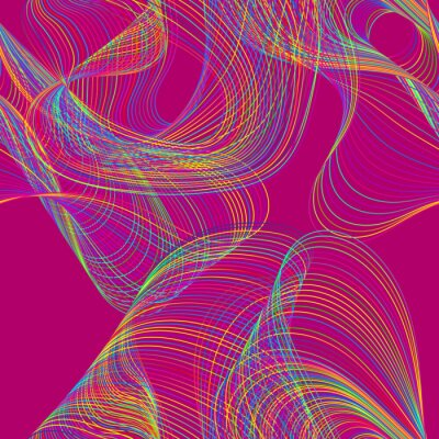 Urban seamless pattern of colorful chaotic lines.