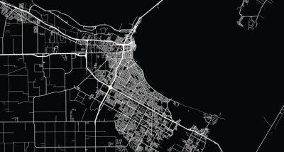 Bild Urban vector city map of Corpus Christi, Texas , United States of America