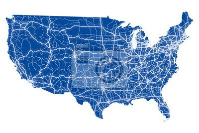 Bild Usa road map