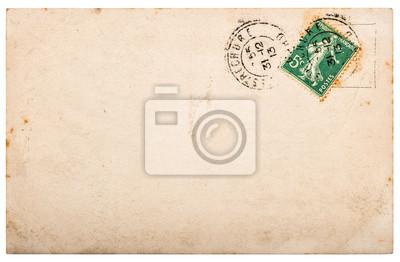 Bild Used paper Vintage handwritten postcard letter edges