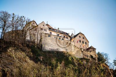 Vaduz Schloss oben auf dem Berg
