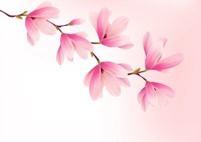 Bild Valentine Hintergrund mit rosa Blumen. Vector.