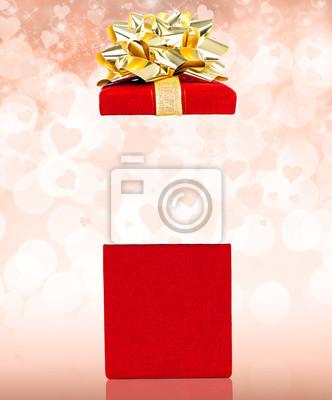 Valentines Gift Box Überraschung mit Textfreiraum