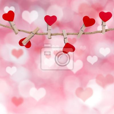 Bild Valentinstag Hintergrund mit Herzen