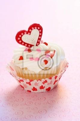 Valentinstag Kuchen Leinwandbilder Bilder Cupcake St Backen