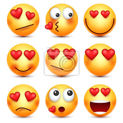 Valentinstag Smiley Emoji Mit Herz Liebe 14 Februar