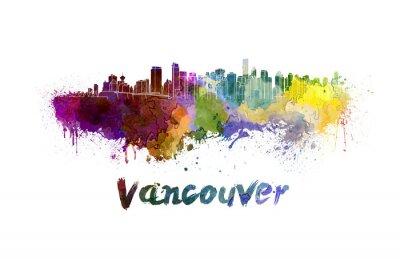 Bild Vancouver Skyline in Aquarell