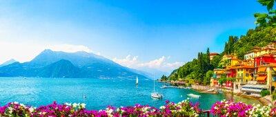 Bild Varenna town, Como Lake district landscape. Italy, Europe.