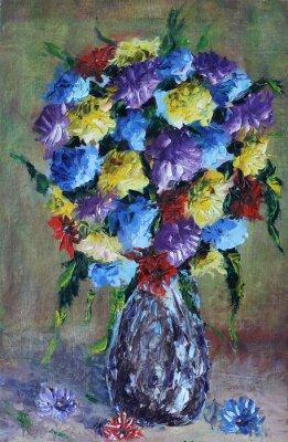 Bild Vase Blumen, Stillleben