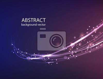 Bild Vector abstract blue motion light effect background.Vector illustration