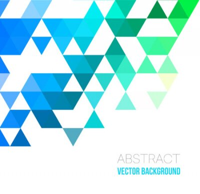 Bild Vector Abstract geometric background with triangles. Vector illustration for your web design, desktop wallpaper or website.