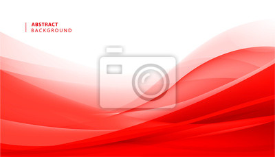 Bild Vector abstract red wavy background. Curve flow motion