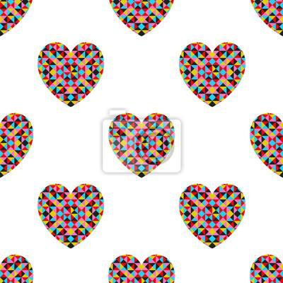 Vector abstrakte Muster mit Herzen