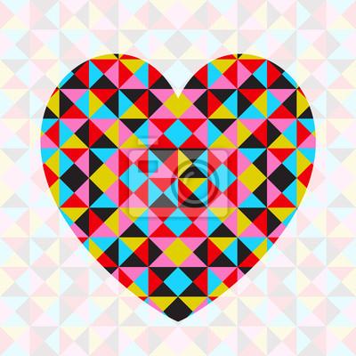 Vector abstrakten geometrischen gemusterten Herzen