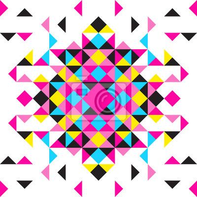 Vector abstrakten geometrischen Hintergrund CMYK-Farben