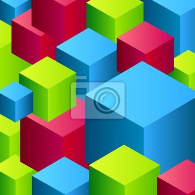 Vector abstrakten Kubus Hintergrund