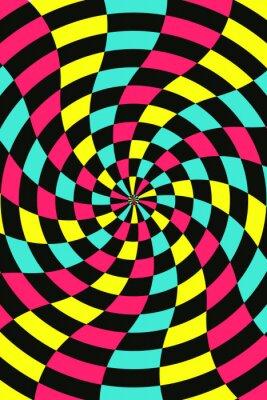 Vector abstrakten Schach Hintergrund, cmyk Konzept