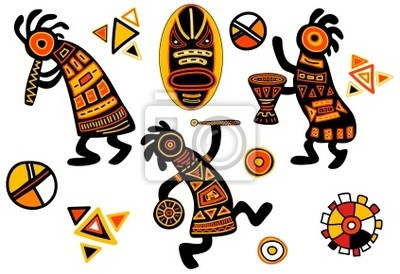 Vector afrikanischen traditionellen Mustern