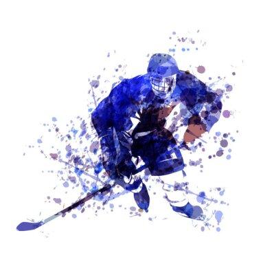 Vector Aquarell Illustration der Hockeyspieler