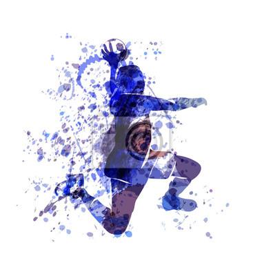 Vector Aquarell Skizze eines Handballspielers