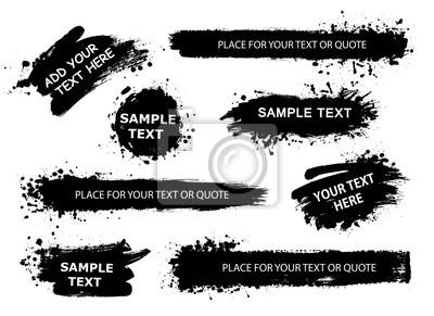 Bild Vector Banner, Hintergründe, Poster für Zitat oder Text-Sammlung. Hand gezeichnet Frames, Striche und runde Sprechboxen. Grunge-Textur.