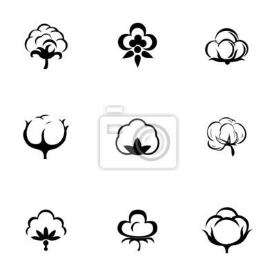 Bild Vector Baumwolle icon set