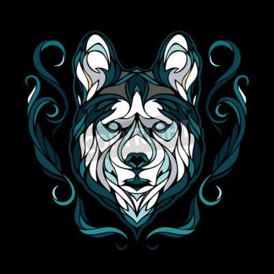 Bild Vector Bild eines Hundes Siberian Husky