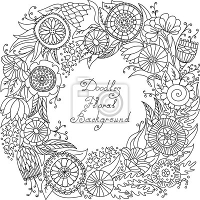 Bild vector black and white floral frame pattern