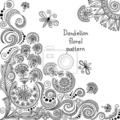 Bild vector black and white floral pattern