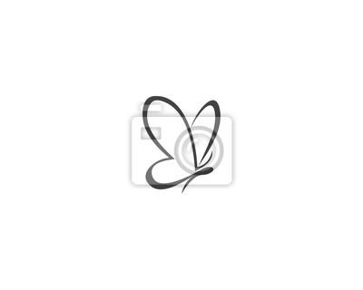 Bild Vector - Butterfly conceptual simple icon. Logo. Vector illustration