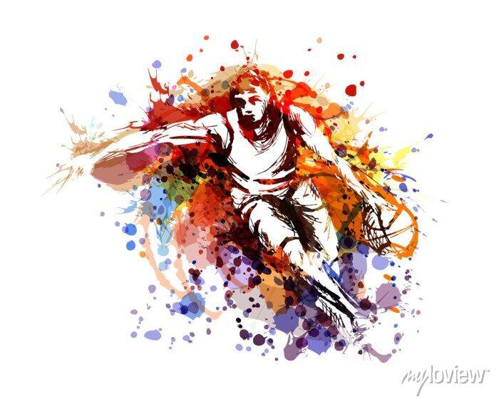 Bild Vector color illustration of a basketball player