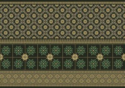 Bild Vector damask floral border design