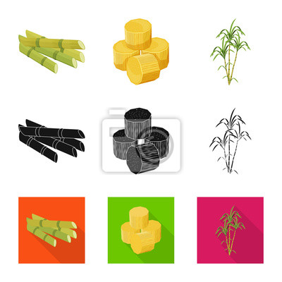Bild Vector design of farm and agriculture  icon. Set of farm and technology stock symbol for web.