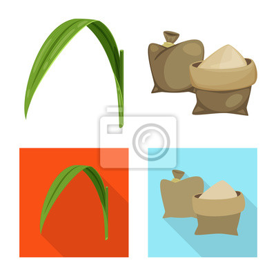 Bild Vector design of farm and agriculture  symbol. Set of farm and technology stock symbol for web.