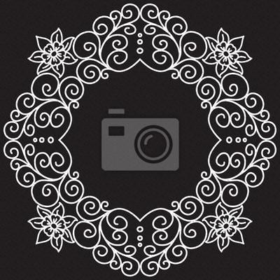 Bild vector doodle pattern of spirals, swirls and flowers