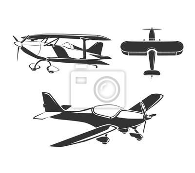 Bild Vector Elemente für Flugzeug Embleme, Etiketten und Abzeichen. Flugzeug und Flugzeug, fliegen Flugzeug, Flug Flugzeug Illustration