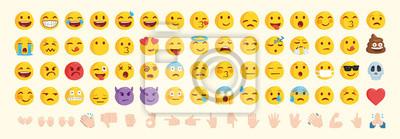 Bild Vector emoticon set. Emoji pack