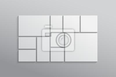 Bild Vector empty collage board ten frames, photo