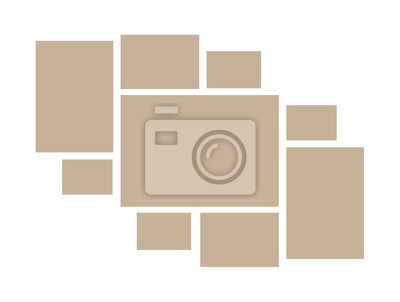 Bild Vector frame for photos and pictures, photo collage, photo puzzle. Templates collage frames for photo or illustration. Vector mood board branding presentation. Isolated on white background.