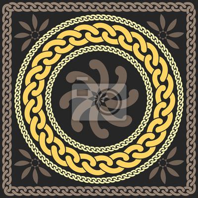 Bild vector gold pattern of chains