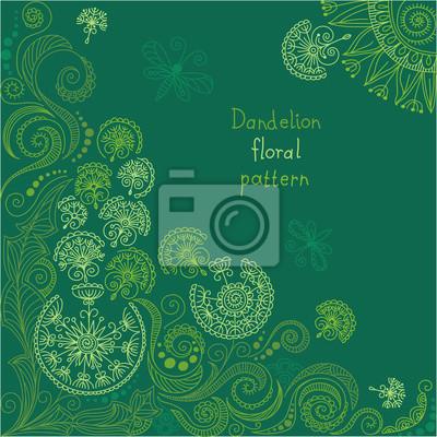 Bild vector green floral pattern