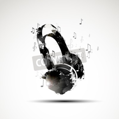 Bild Vector Hintergrund abstrakte Aquarell Kopfhörer