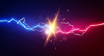 Bild Vector Illustration Abstract Electric Lightning. Concept For Battle, Confrontation Or Fight