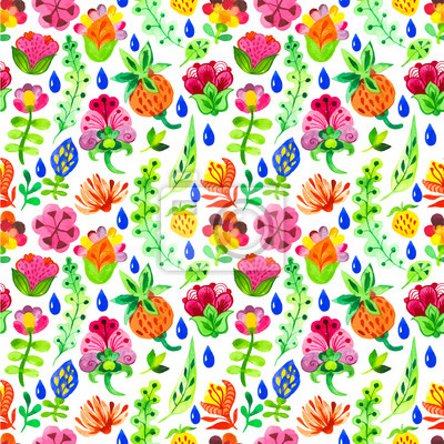 Bild Vector Illustration mit Original-Blumenhintergrund.