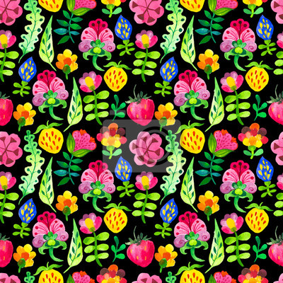 Bild Vector Illustration mit Original-Blumenhintergrund.