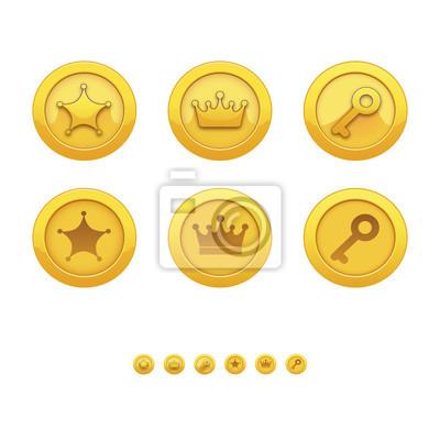 Bild Vector Illustration mit Spiel-Icons. Für Computerspiele.